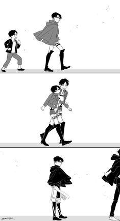 Funny Anime Pics, Sad Anime, Anime Demon, Kawaii Anime, Anime Guys, Attack On Titan Comic, Attack On Titan Ships, Attack On Titan Fanart, Eren E Levi