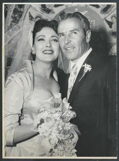 "Linda Darnell and Merle Roy ""Robbie"" Robertson 1957"