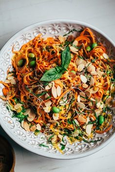 sweet potato noodle salad with creamy chipotle miso sauce