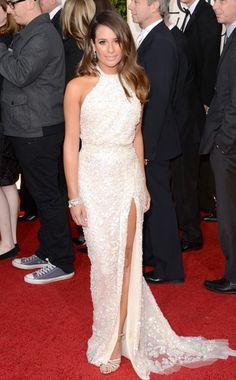 Lea Michele in Elie Saab. Golden Globes 2013.