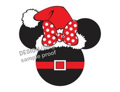 Minnie Mouse Mrs. Santa Clause Disney DIY Printable Iron On t shirt Transfer Instant Download Christmas Holiday
