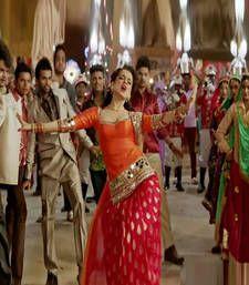 Buy orange raw silk embroidered semi_stitched salwar with dupatta patiala-salwar online