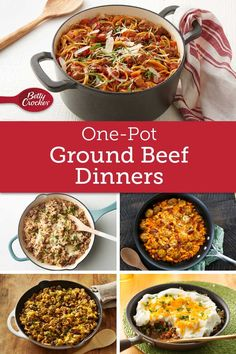 For dinner on the double, all you need is a pound of ground beef and a single pot or pan! Ground Beef Recipes For Dinner, Ground Meat Recipes, Dinner With Ground Beef, Dinner Recipes, All You Need Is, Barbecue Pork Ribs, Bbq Roast, One Pot Dinners, Carne Picada