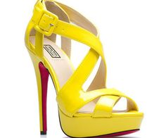 2013 Summer New Womens Shoes-Yellow High Heels_New Articles_Goods-Good