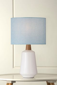 64 best style contemporary images on pinterest buffet lamps 1125 tuesday white ceramic oak table lamp with powder blue hessian shade aloadofball Image collections