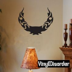 Tribal Flames Frame Wall Decal - Vinyl Decal - Car Decal - DC 092