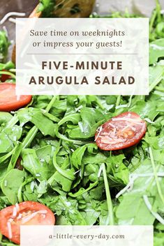 Impress your guests with this flavourful arugula salad that will be ready within minutes! Side Dish Recipes, Side Dishes, Arugula Salad, How To Squeeze Lemons, Summer Salads, Cherry Tomatoes, Food Print, Whole Food Recipes, Salad Recipes