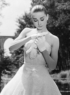 Audrey Hepburn on the set of Funny Face