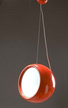 Studio Tetrarch; Plastic and Metal 'Pallade' Ceiling Light for Artemide, 1968.
