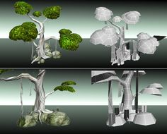 tree 3d low poly - Google Search