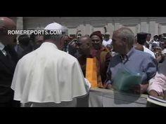 Jefe de seguridad del Vaticano fotografía el singular encuentro del Papa con monjes budistas