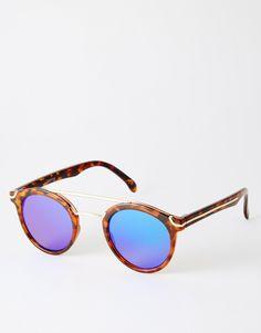 c5586cd32cd ASOS+Round+Sunglasses+With+Metal+Nose+Bridge+ amp