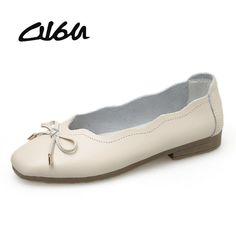 fbb85ae28 ... женская обувь из натуральной кожи; женские балетки на плоской подошве  без застежки; женские лоферы с узлом; женские мокасины купить на AliExpress