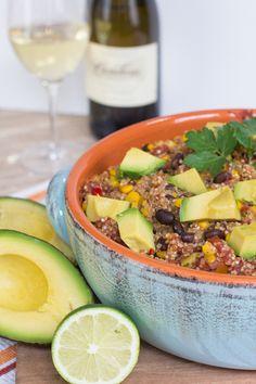 Gluten Free Mexican Style Quinoa with Cambria Wines Viognier
