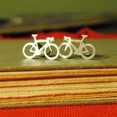 Bicycle Cuff Links. $75.00, via Etsy. - Bathtub Jungle