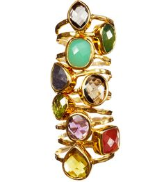 gemstone rings, I like the look of these stacked.
