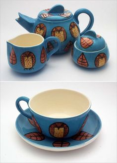 Owl tea set-
