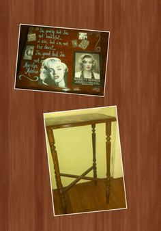 ~ M Monroe Area Table ~ Re-Vamped Vintage Artistic Table ... https://www.facebook.com/Artsy.Me.by.L.Marie