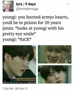 Even Yoongi is shook xD