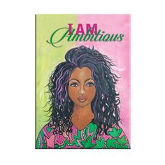 "A new magnet designed for and inspired by the women of Alpha Kappa Alpha Sorority. It features the art of Sylvia ""Gbaby"" Cohen and depicts a sister that is focused, ambitious and ready to manifest destiny. Go and make it happen! #alphakappaalpha #aka #blackart #magnet..."