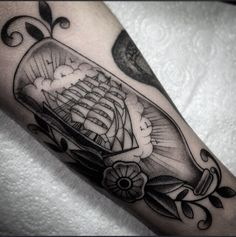 ship in a bottle  family business tattoo london