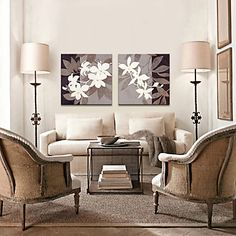 Stretched Canvas Art Botanical Dried Leaves Set of 3 – USD $ 49.99