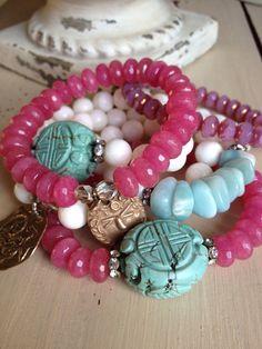 Pink gemstone ruby west wind bronze charm by MarleeLovesRoxy, $55.00