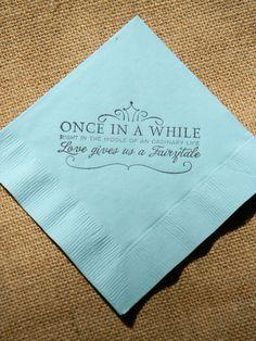 Fairytale Love Light Blue Paper Wedding by CharlestonCharms,$15.00 Www.handmadenapkins.com