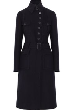 'patton' wool & angora-blend coat ralph lauren black label net-a-porter