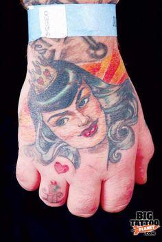 Hannah Aitchison hand tat