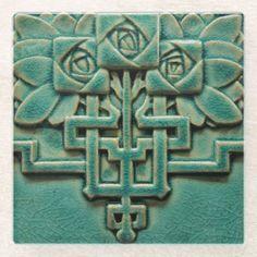 Teal Color Schemes, Color Azul, Decoration Chic, Art Decor, Art Nouveau, Art Deco Tattoo, Craftsman Tile, Craftsman Kitchen, Organic Ceramics