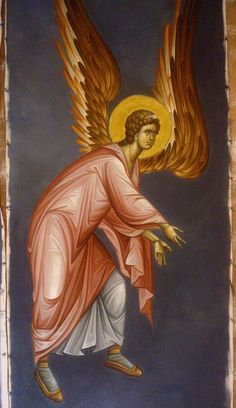 Byzantine Icons, Byzantine Art, Religious Icons, Religious Art, Order Of Angels, Orthodox Icons, Angel Art, Archangel, Cherub
