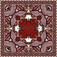 Традиционные декоративные цветочные Пейсли бандану | Векторный клипарт | ID 3995969