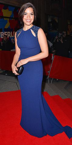 AMERICA FERRERA - working that blue dress!