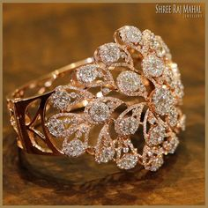 Best Diamond Bracelets : This amazing rendition of chrysanthemum flower crafted with the brilliant cut d