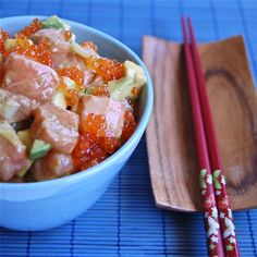 Raw Salminn Salad with an Asian touch Recipe
