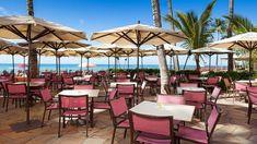 The patio of the Royal Hawaiian, a Waikiki beachfront hotels Hawaii Hotels, Hawaii Vacation, Oahu Hawaii, Hawaii Travel, Place To Shoot, Waikiki Beach, Beautiful Places, Mai Tai, Patio