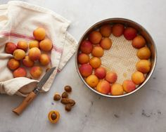 Apricot coconut upside down cake with cardamom - Amy Chaplin