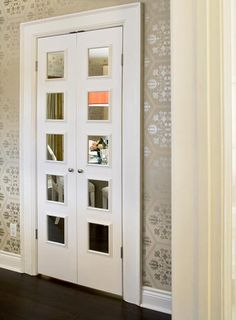 dollar store mirrors to wow interior doors!