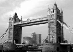 DecoArt24.pl Londyn, Tower Bridge - fototapeta - Black  White - ARCHITEKTURA - FOTOTAPETY