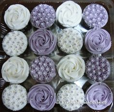 Purple cupcakes! http://media-cache7.pinterest.com/upload/228487381064406195_yXJ36voo_f.jpg lilblondespear tracy and aarons wedding