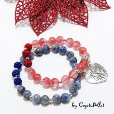 "Bratarile prieteniei cu pietre semipretioase ""Two as one"" - Jewerly, Beaded Bracelets, Handmade, Jewlery, Hand Made, Bijoux, Schmuck, Pearl Bracelets, Craft"