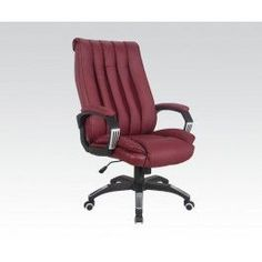 Sealy Roma Leather Executive Chair Red 9843g In 2019