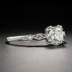 1.52 Carat Diamond Art Deco Engagement Ring - GIA K / SI2 - Everything - Vintage Jewelry