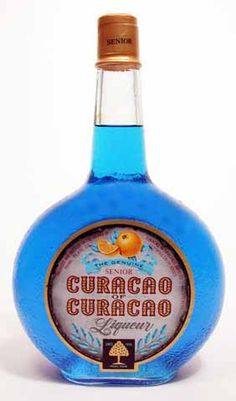 best liqueur of the world! Southern Caribbean, Caribbean Sea, Blue Curacao Liqueur, Kingdom Of The Netherlands, Fruit, Cocktails, Bottle, Cheers, Craft Cocktails