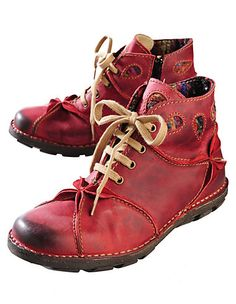 Rovers Gritt, red - Ankle Boots - Deerberg