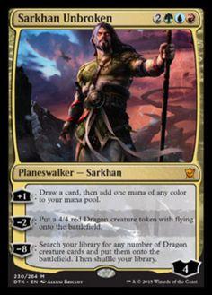 Sarkhan-Unbroken-x1-Magic-the-Gathering-1x-Dragons-of-Tarkir-mtg-card-NM