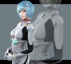 Rei Ayanami ~ by Naoto Ikeda