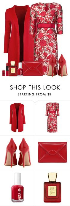 """""""Amore"""" by pinkmode ❤ liked on Polyvore featuring Carolina Herrera, Gianvito Rossi, Lulu Guinness, Essie, Bella Bellissima and Rimmel"""