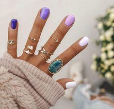 Spring nails nail designs 2019 – page 148 of 200 – nagel-design-bilder. Summer Acrylic Nails, Best Acrylic Nails, Spring Nails, Fall Nails, Ten Nails, Dream Nails, Chrome Nails, Purple Nails, Gradient Nails